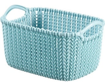 Curver Knit XS Rectangular Basket Blue