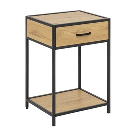 Kohvilaud Home4you Seaford Oak/Black, 420x350x630 mm