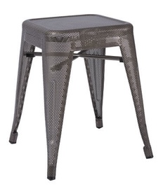 Signal Meble Stool Aluminium Perforated