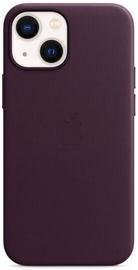 Futrālis Apple iPhone 13 mini Leather Case with MagSafe, bordo