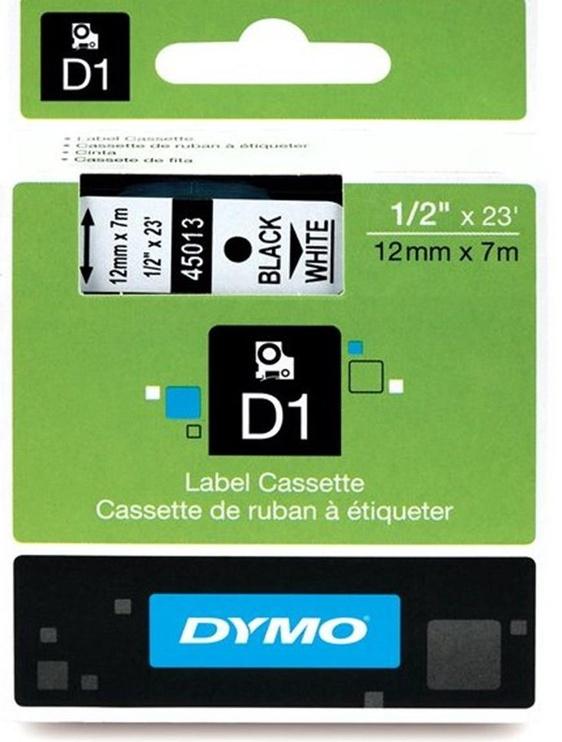 Dymo D1 12mm Black/White