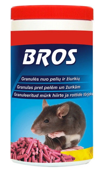 Granulės graužikams Bros, 140 g