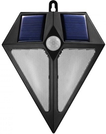Maclean Solar Wall Lamp 6 LED Black