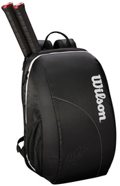 Wilson Fed Team 2018 Bag For 2 Rackets Black/White