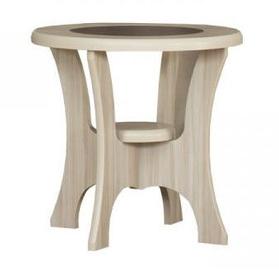 Kafijas galdiņš Bodzio S01, smilškrāsas, 600x600x590 mm