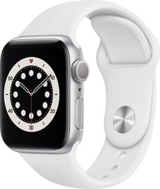 Apple Watch Series 6 GPS 40mm Silver Aluminum White Sport Band
