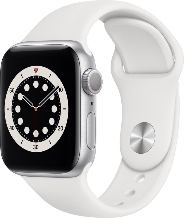 Išmanusis laikrodis Apple Watch Series 6 GPS 40mm Silver Aluminum White Sport Band
