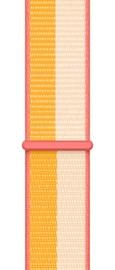 Ремешки Apple 45mm Maize/White Sport Loop - Regular, белый/желтый