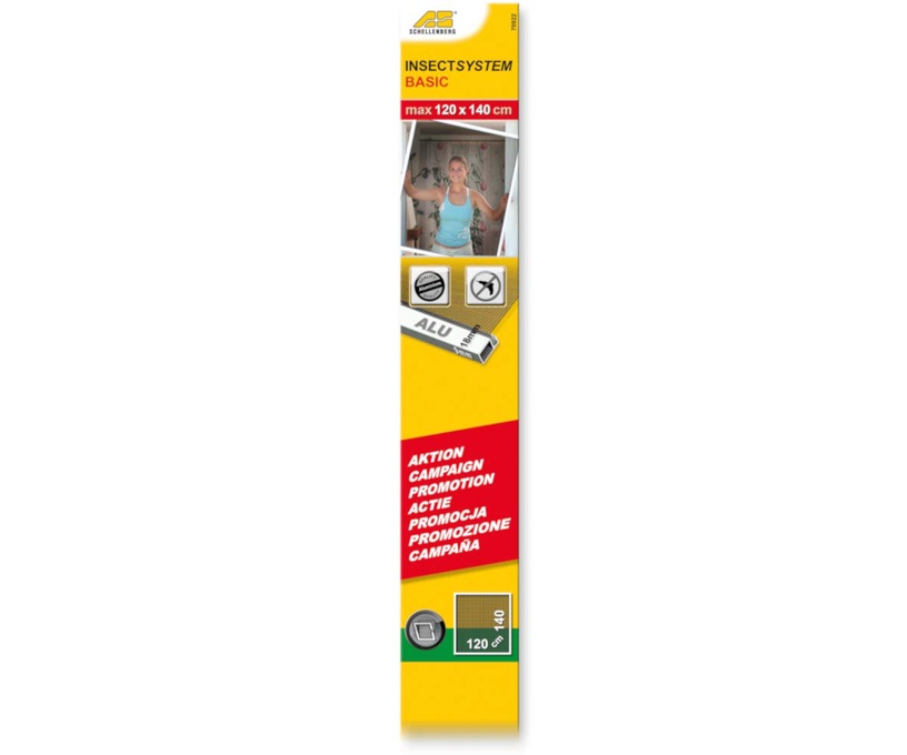 Moskītu tīkls Schellenberg Insectsystem Basic 70922, balta, 1200x1400 mm