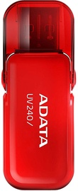 USB atmintinė ADATA UV240 Red, USB 2.0, 32 GB