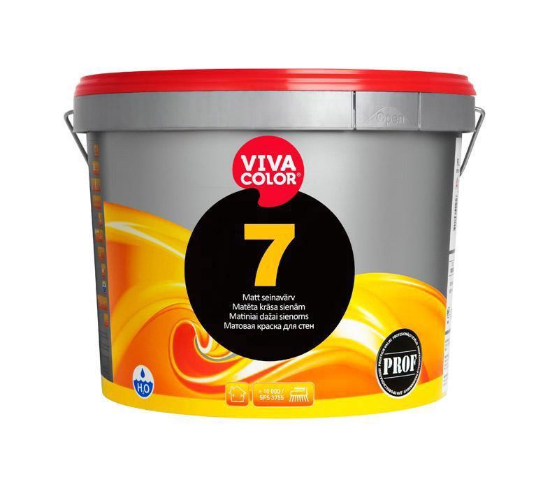 Akriliniai sienų dažai Vivacolor 7 A, balti, 0.9 l
