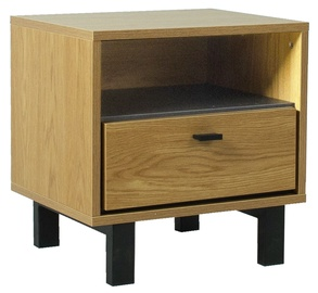Home4you Frame Night Stand Oak/Black
