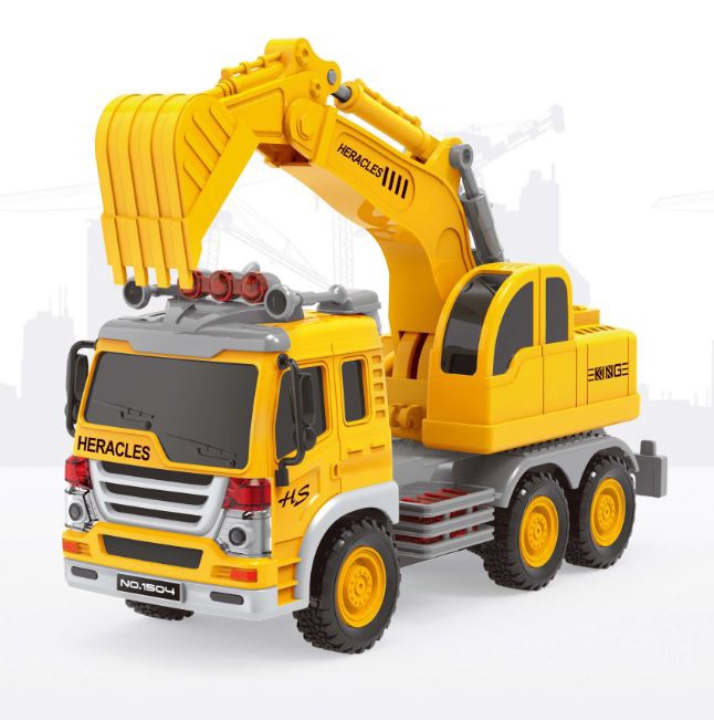 Žaislinė mašina su kranu