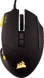 Žaidimų pelė Corsair Scimitar Pro Yellow, laidinė, optinė