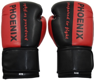 Phoenix Boxing Gloves Prepared to Fight Black/Red 6OZ