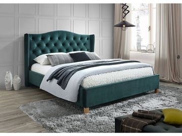 Signal Meble Aspen Bed Velvet 140x200cm Green