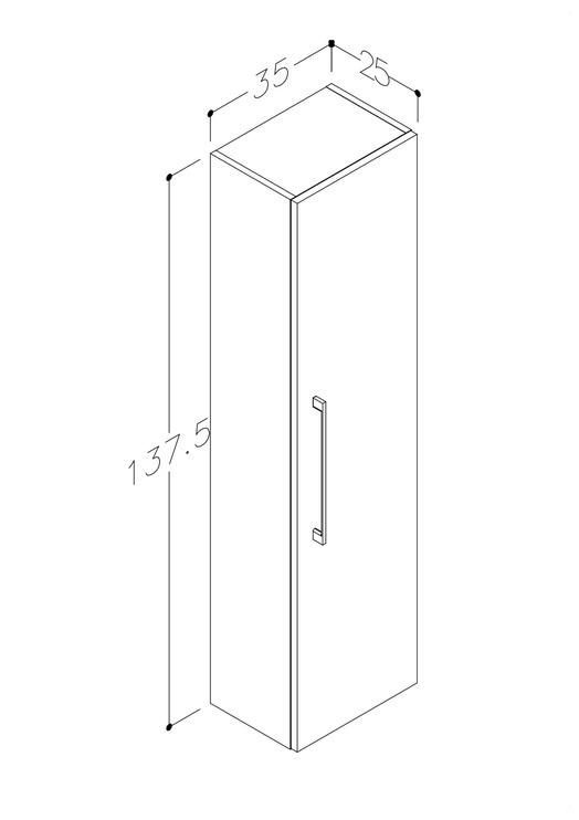 Шкафчик Raguvos Baldai Allegro 1130208 Cabinet Cream