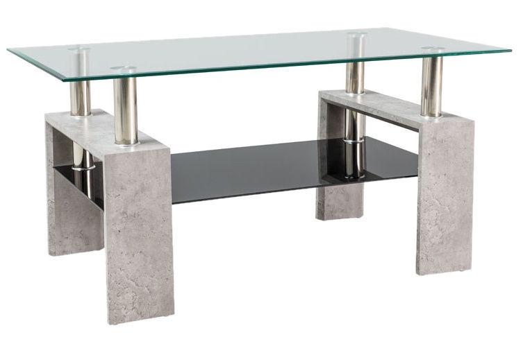 Kafijas galdiņš Signal Meble Modern Lisa II Light Stone, 1100x600x550 mm