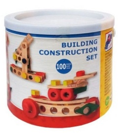 Woody Building Construction Set In Bucket 100pcs 95001