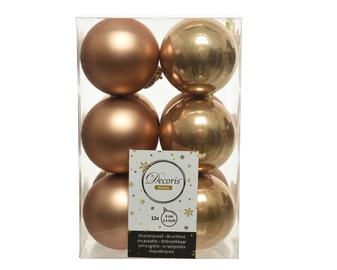 Jõulupuu ehe 021835 Brown, 60 mm, 12 tk