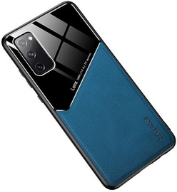 Чехол Mocco Lens Leather Back Case Apple iPhone 12 Pro Max, синий/черный