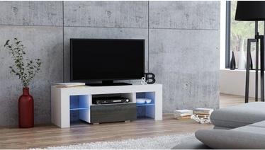 TV staliukas Pro Meble Milano 110 White/Grey, 1100x350x450 mm