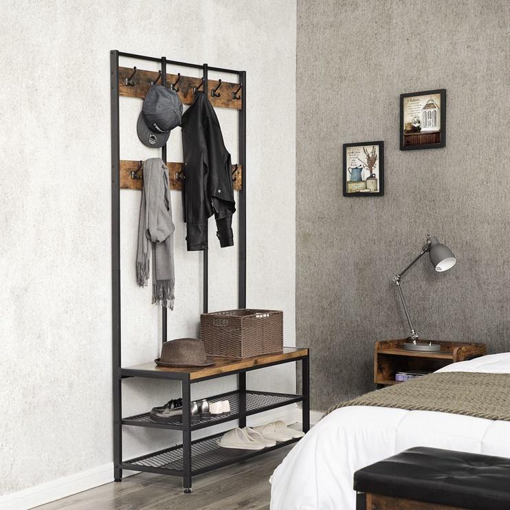 Вешалка для одежды Songmics, коричневый/черный