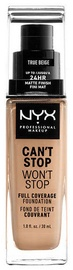 NYX Can't Stop Won't Stop Full Coverage Foundation 30ml True Beige