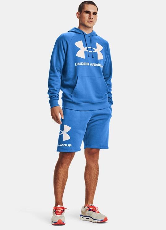 Under Armour Men's Rival Fleece Big Logo Hoodie 1357093 787 Blue 2XL