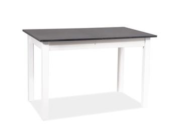 Pusdienu galds Signal Meble Scandinavian Horacy, balta/antracīta, 1400x600x750mm