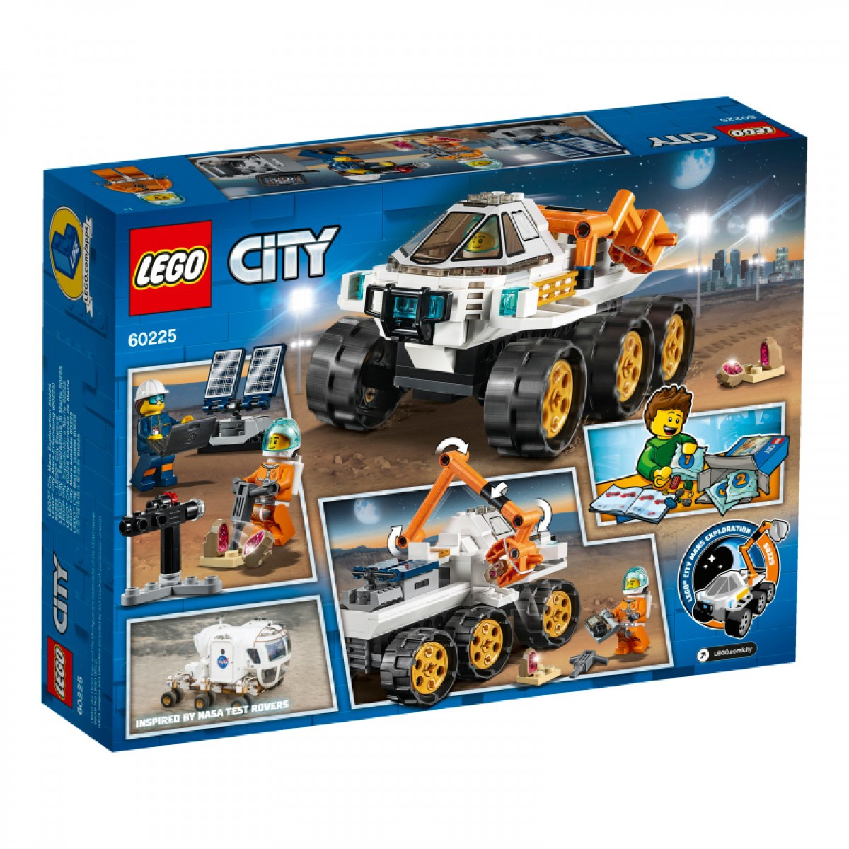 LEGO City Space Rover Testing Drive 60225 NASA-inspired Set w// Astronaut Figure