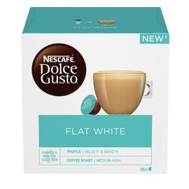 Kavos kapsulės Nescafe Dolce Gusto Flat White, 187 g., 16 vnt.
