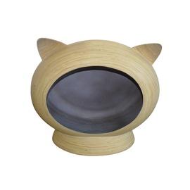 Namas katėms natūralaus bambuko apvalus