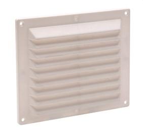 Ventilācijas reste 041188, 14,6X17,5cm, balta