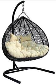 Кресло-качалка подвесной двухместный, черный