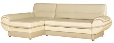 Bodzio Livonia Left Corner Folding Sofa Eco Leather Beige/White