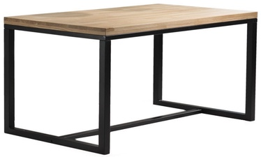 Pusdienu galds Signal Meble Loras Oak/Black, 1200x770x800 mm