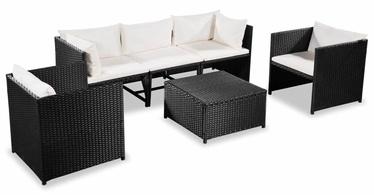 Комплект уличной мебели VLX 6 Piece 44192, черный, 5 места
