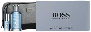 Hugo Boss Bottled Tonic 100ml EDT + 8ml EDT + Cosmetic Bag