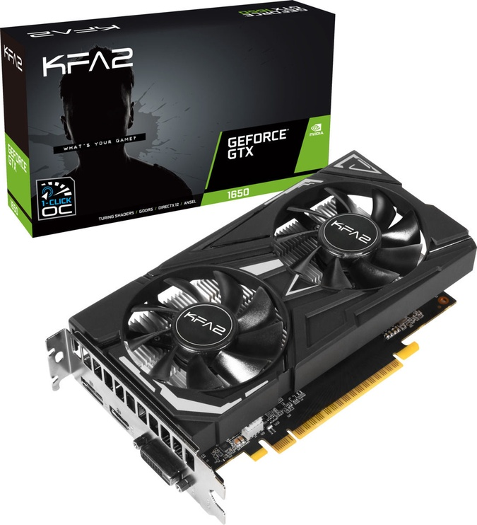 KFA2 GeForce GTX 1650 EX 4GB GDDR5 PCIE 65SQH8DS08EK