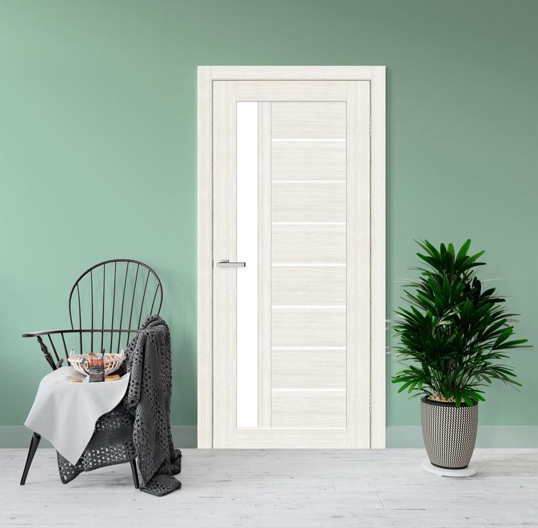 Полотно межкомнатной двери Cortex 09, белый/дубовый, 200 см x 60 см x 4 см