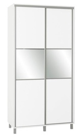 Skapis Bodzio SZP120W White, 120 x 60 x 240 cm, with mirror