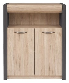 Black Red White Executive II Drawer San Remo Oak