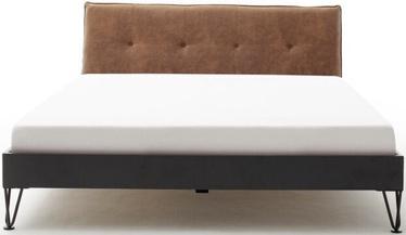 Кровать Meise Möbel Boston-3 Spoke Metal Foot, коричневый, 200x180 см