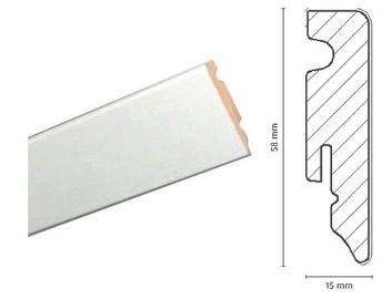 Grindjuostė FOF A015, 2400 x 58 x 15 mm