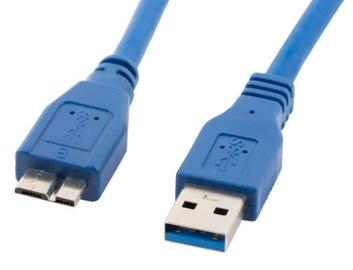 Lanberg Cable Micro USB / USB Blue 0.5m
