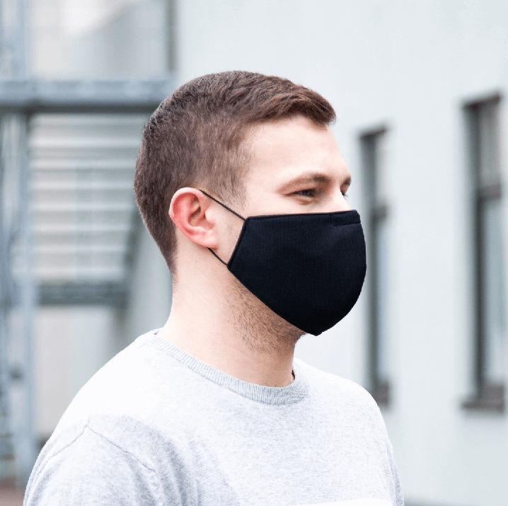 Daugkartinė veido kaukė Blindsave 4-layer Black
