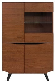 Black Red White Madison Glass Cabinet REG3D1W Brown Oak