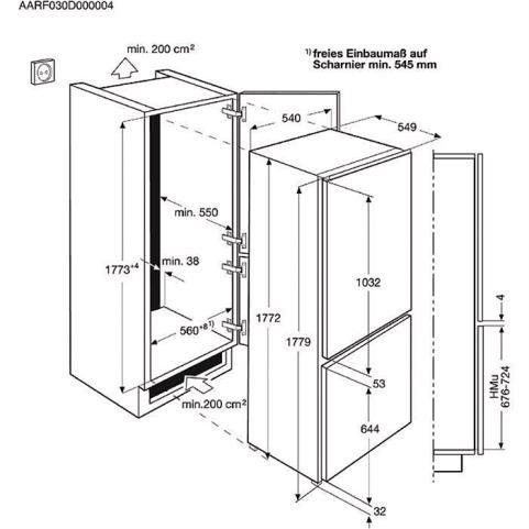 Šaldytuvas Electrolux ENN12800AW