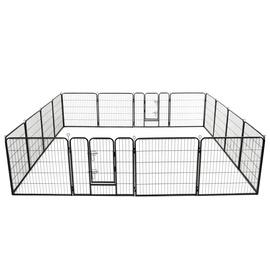 Kaitse VLX Dog Playpen 16 Panels Black, 4000x800x800 mm